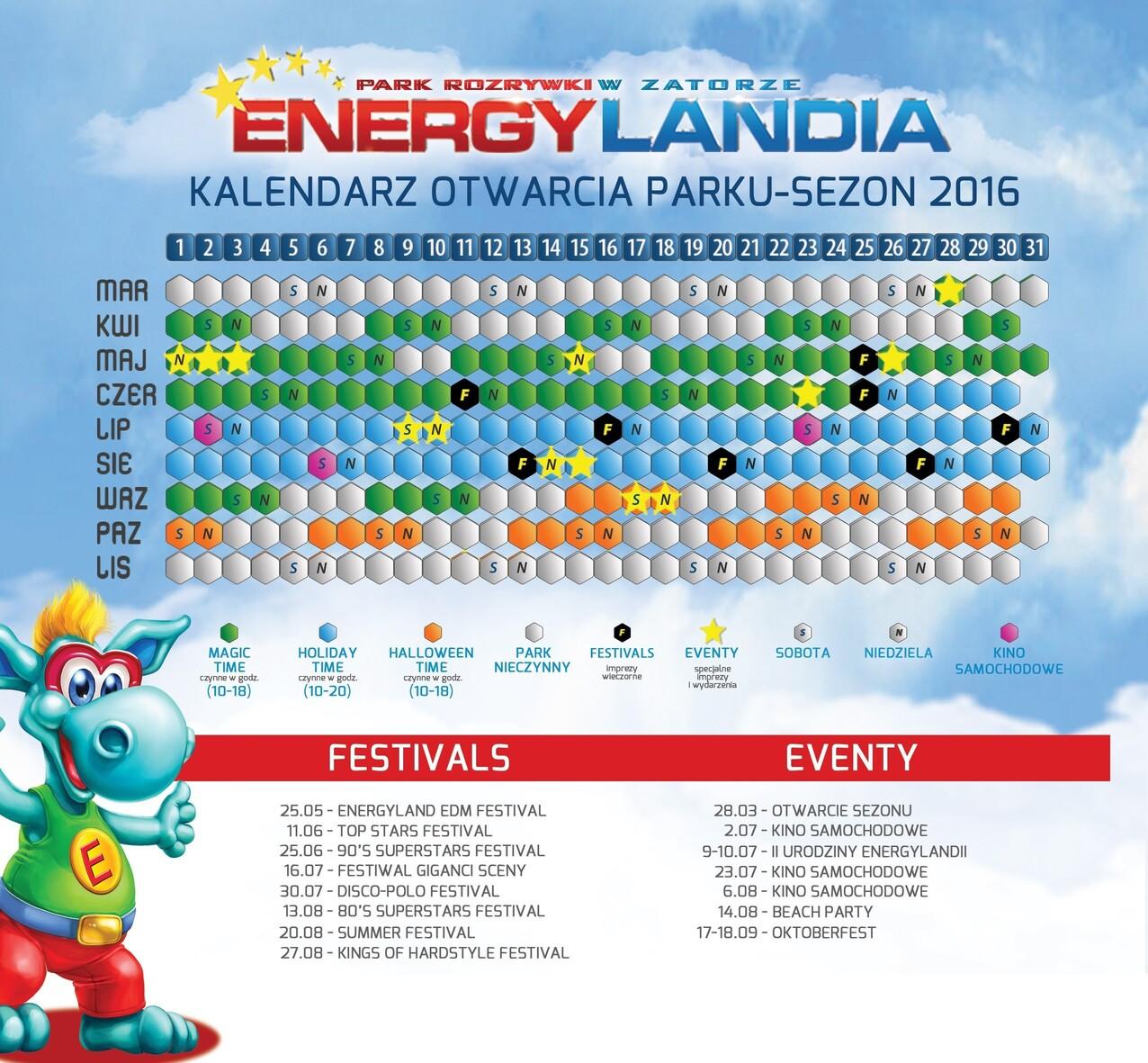 kalendarz  OK 2016