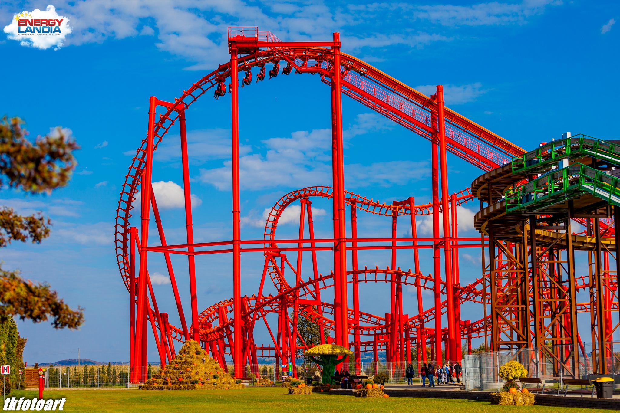 Roller Coaster Mayan ENERGYLANDIA Rodzinny Park Rozrywki
