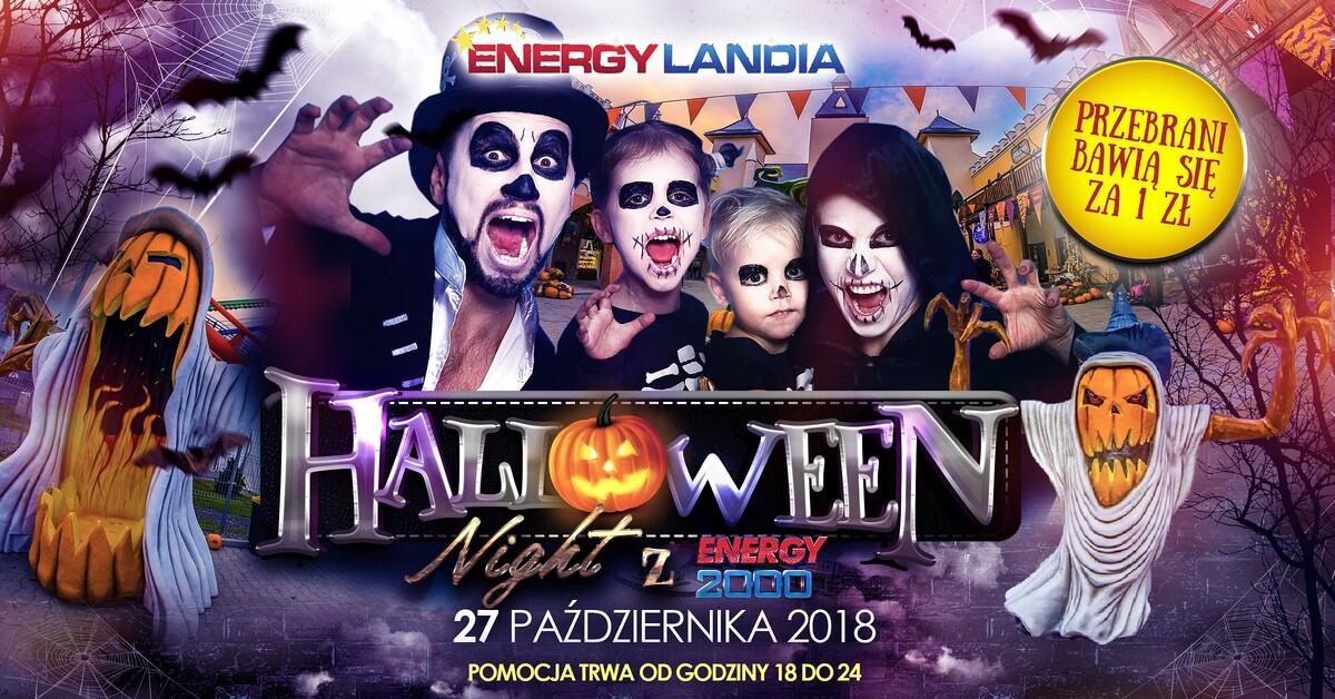 halloween night w energylandia, bilet za 1 zł. dla przebranych