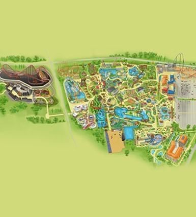 Map Of The Park Energylandia Amusement Park Poland Zator